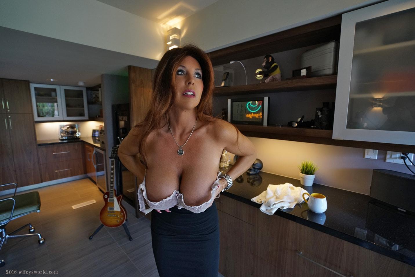 Wifeysworld spunk boobs