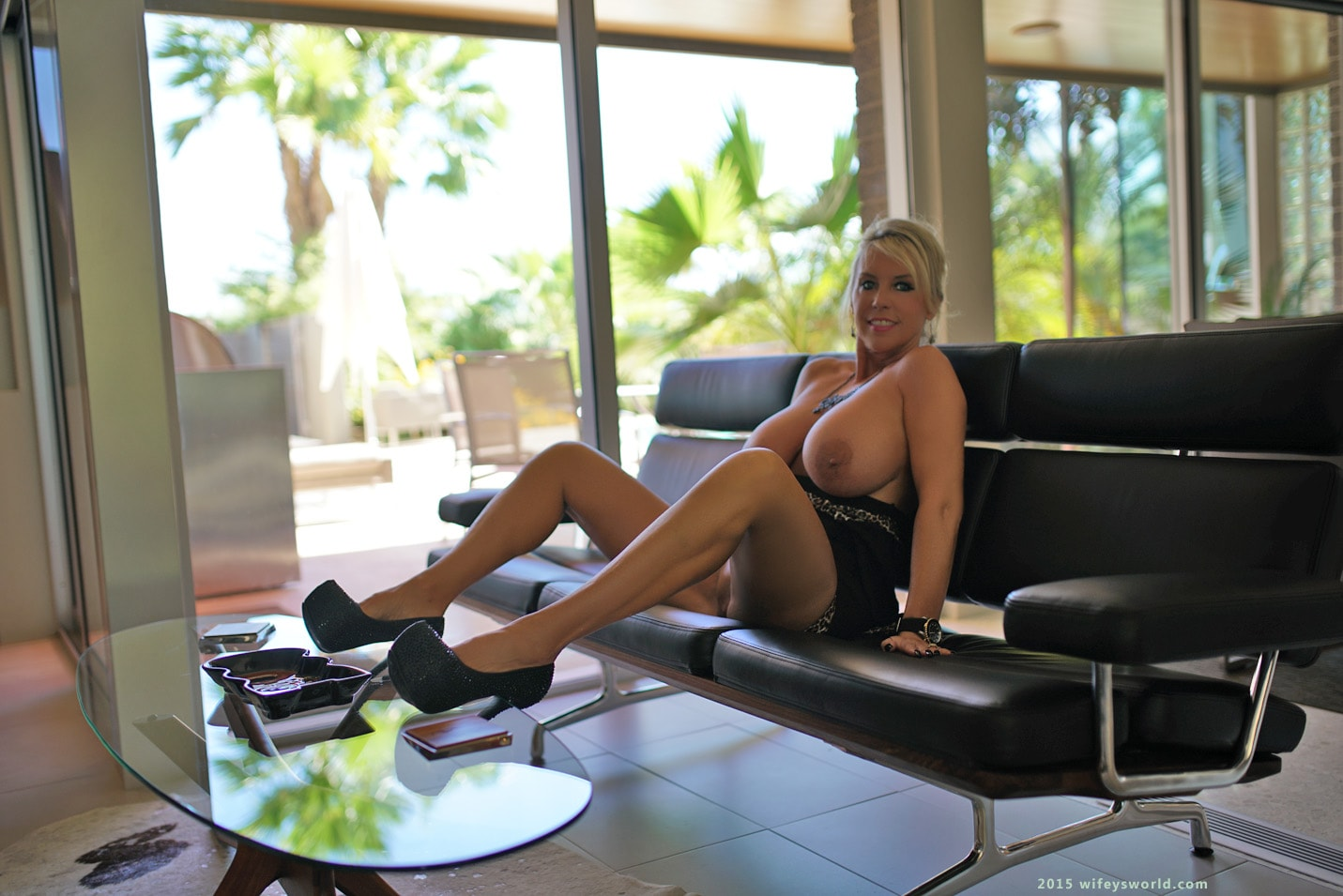Wifeys World 'Luscious Black Dress' starring Sandra Otterson (photo 40)